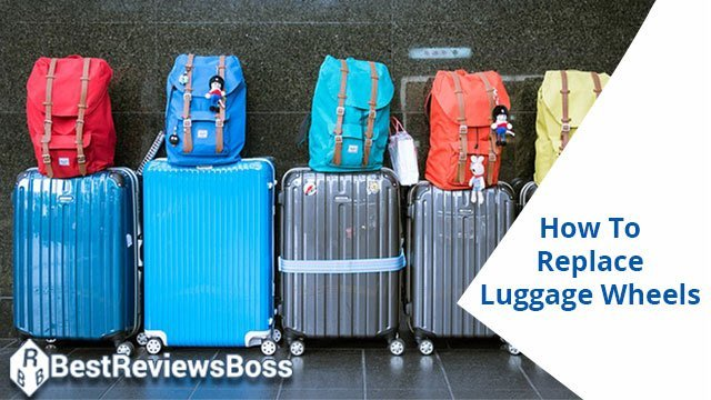 how to replace luggage wheels riveted